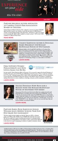 Charny, Karpousis, Altieri & Donoian, P.A. Enews June 2019